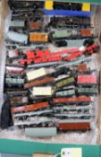 38x Hornby Dublo railway items for 3-rail running. Including 2x BR locomotives; a Class 4MT 2-6-4T
