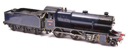 A live steam 2.5 inch LBSC 'Dyak' locomotive. A 2-cylinder coal-fired 2-6-0 tender locomotive