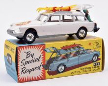 Corgi Toys Citroen Safari Olympic Winter Sports (475). In white with light brown interior, '1964