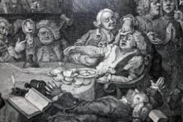 "William Hogarth (British 1697-1764), Humours of an Election, set of four engravings; ""An Election"