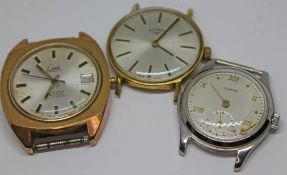 A group of three vintage wristwatches comprising a Limit, a Rotary and a Vertex as found