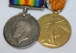 A WWI pair awarded to 2 LIEUT J LESTER