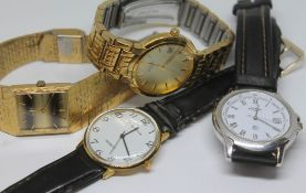 A group of four vintage wristwatch comprising two Rotary a Philip Mercier and a Limit