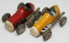 Two Schuco Micro Racer model motor cars.