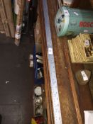 A Draper metal 1 Metre ruler The-saleroom.com showing catalogue only, live bidding available via our