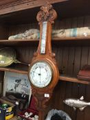 An Oak cased barometer The-saleroom.com showing catalogue only, live bidding available via our