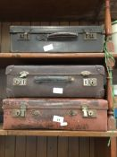 3 small vintage suitcases The-saleroom.com showing catalogue only, live bidding available via our