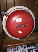 A manually operated Fire Alarm bell The-saleroom.com showing catalogue only, live bidding