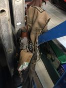 A fishing rod bag and rods including Daiwa, Shakespeare, etc Catalogue only, live bidding
