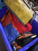 A box of dry bags and cayac buoyancy aid. Catalogue only, live bidding available via our website, if