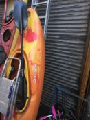 A Dagger kayak with paddle. Catalogue only, live bidding available via our website, if you require