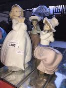 3 Nao figurines Catalogue only, live bidding available via our website, if you require P&P please