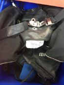 A box containing 2 diving jackets, Scubapro Rectex, Morphos Twin and a diving weight belt with