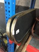 A folding fireguard Catalogue only, live bidding available via our website, if you require P&P