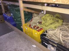 3 boxes and 1 bag of climbing rope - AF - with no safety guarantee. Catalogue only, live bidding