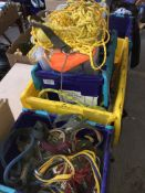4 boxes of various offcuts of rope. Catalogue only, live bidding available via our website, if you