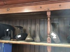 A quantity of shoe lasts, old iron, etc Catalogue only, live bidding available via our website, if