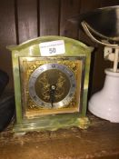 A G. Dimmer & Son onyx carriage clock Catalogue only, live bidding available via our website, if you