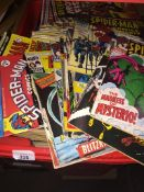 A large quantity of comics including Spiderman, Marvel, etc. Catalogue only, live bidding