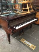 A John Broadwood & Sons baby grand piano Catalogue only, live bidding available via our website,