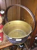 A brass jam pan. Catalogue only, live bidding available via our website, if you require P&P please