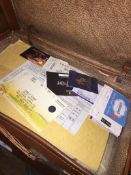 A vintage case containing theater tickets, etc. Please note, lots 1-1000 are not available for