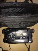 A Panasonic R33 video camera. Please note, lots 1-1000 are not available for live bidding on the-