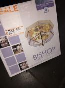 A flush ceiling light fitting. Please note, lots 1-1000 are not available for live bidding on the-