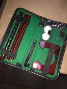 A golf putting practice set. Please note, lots 1-1000 are not available for live bidding on the-