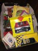 A box of model cars and others. Please note, lots 1-1000 are not available for live bidding on the-