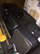 A portable Sanyo CD / tape radio player. Please note, lots 1-1000 are not available for live bidding