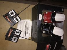 2 RC Mini Cooper S cars Please note, lots 1-1000 are not available for live bidding on the-