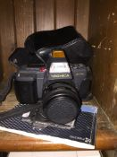 A Yashica 230-AF camera in case and manual Please note, lots 1-1000 are not available for live