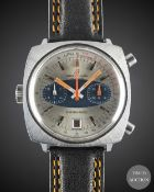 A GENTLEMAN'S STAINLESS STEEL BREITLING CHRONO MATIC CHRONOGRAPH WRIST WATCH CIRCA 1969, REF. 2111