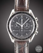 A GENTLEMAN'S STAINLESS STEEL OMEGA SPEEDMASTER PROFESSIONAL MOONPHASE CHRONOGRAPH WRIST WATCH CIRCA