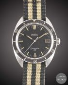 A GENTLEMAN'S STAINLESS STEEL OMEGA SEAMASTER 120 AUTOMATIC DATE WRIST WATCH CIRCA 1968, REF. 166.