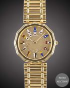 A GENTLEMAN'S 18K SOLID YELLOW GOLD CORUM ADMIRAL'S CUP BRACELET WATCH CIRCA 1990s, REF.44 810