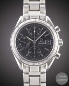 A GENTLEMAN'S STAINLESS STEEL OMEGA SPEEDMASTER AUTOMATIC CHRONOGRAPH BRACELET WATCH CIRCA 1999,