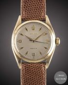 A GENTLEMAN'S 9CT SOLID GOLD ROLEX OYSTER PRECISION WRIST WATCH CIRCA 1959, REF. 6426 WITH 3-6-9 ""