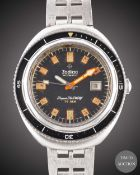 A GENTLEMAN'S STAINLESS STEEL ZODIAC SUPER SEA WOLF AUTOMATIC DIVERS BRACELET WATCH CIRCA 1970, REF.