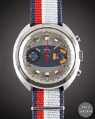 A GENTLEMAN'S STAINLESS STEEL DUGENA CHRONOGRAPH WRIST WATCH CIRCA 1970s, REF. 650-231 WITH ""