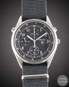 "A GENTLEMAN'S STAINLESS STEEL BRITISH MILITARY SEIKO ""GEN 2"" RAF PILOTS WRIST WATCH DATED 1995, REF."