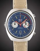 A GENTLEMAN'S STAINLESS STEEL HEUER MONTREAL AUTOMATIC CHRONOGRAPH WRIST WATCH  CIRCA 1970s, REF.