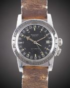 A GENTLEMAN'S STAINLESS STEEL GLYCINE AIRMAN PILOTS WRIST WATCH CIRCA 1966 Movement: 25J, automatic,