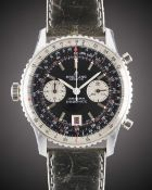 "A RARE GENTLEMAN'S ""NOS"" STAINLESS STEEL BREITLING CHRONOMAT CHRONO-MATIC CHRONOGRAPH WRIST WATCH"