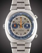 A GENTLEMAN'S STAINLESS STEEL BREITLING TRANSOCEAN CHRONO-MATIC AUTOMATIC CHRONOGRAPH BRACELET WATCH