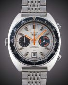 A GENTLEMAN'S STAINLESS STEEL HEUER AUTAVIA AUTOMATIC CHRONOGRAPH BRACELET WATCH CIRCA 1970s, REF.