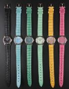 "A SET OF SIX LADIES ""NOS"" 18K SOLID WHITE GOLD BLANCPAIN LADYBIRD WRIST WATCHES CIRCA 1990s, SIX"