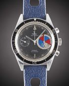 A GENTLEMAN'S STAINLESS STEEL YEMA YACHTINGRAF CHRONOGRAPH WRIST WATCH CIRCA 1970  Movement: 17J,