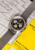 A RARE GENTLEMAN'S STAINLESS STEEL BREITLING NAVITIMER CHRONOGRAPH BRACELET WATCH DATED 1967, REF.